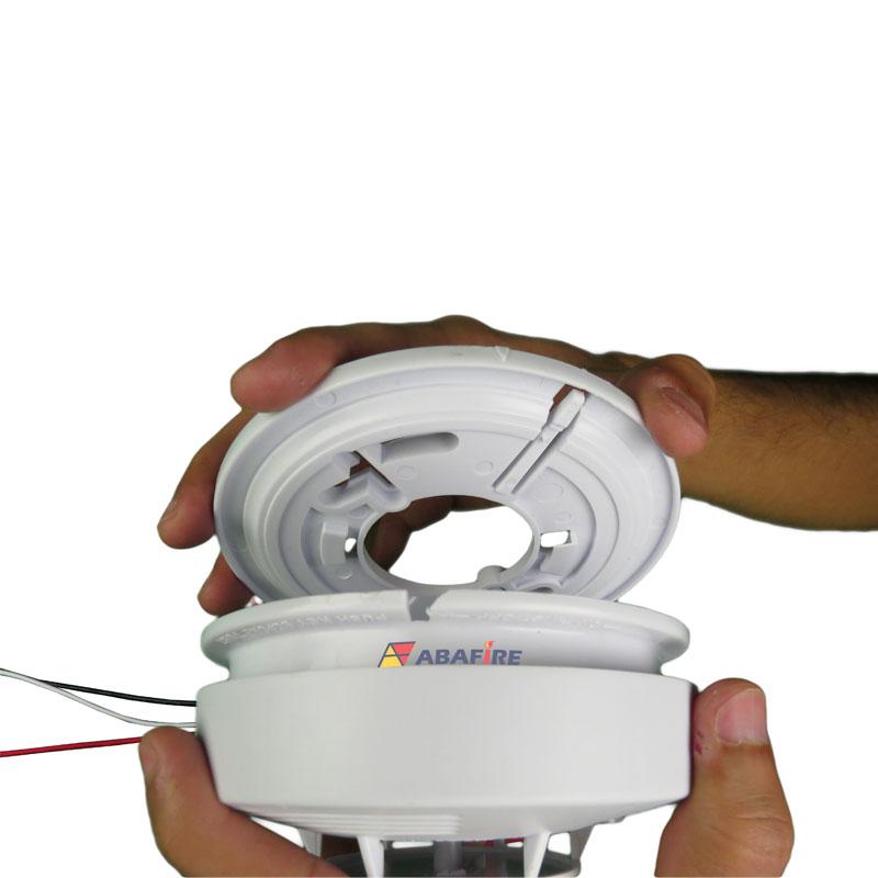 Detector pontual de fumaça autônomo com saída relé NA/NF (Stand alone smoke detector with relay NO/NC) código AFDFAR - Imagem 06