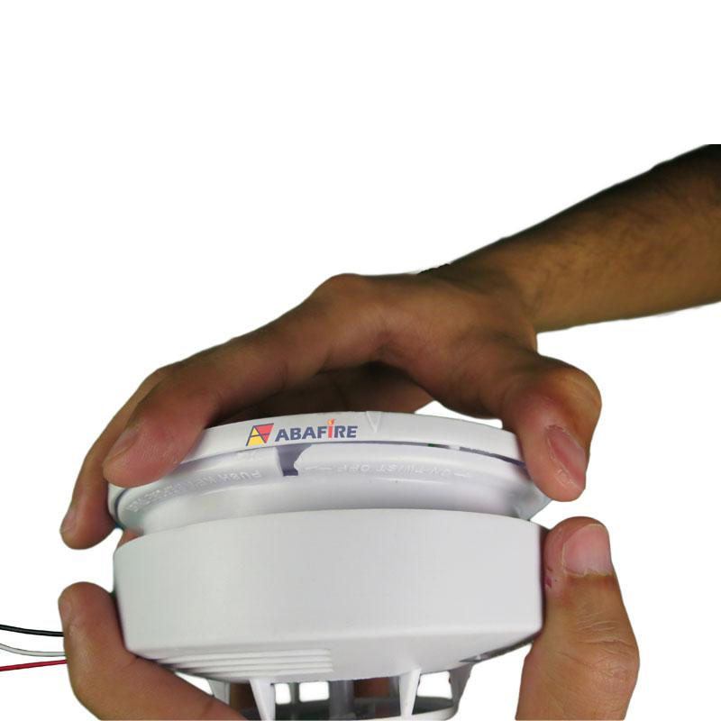 Detector pontual de fumaça autônomo com saída relé NA/NF (Stand alone smoke detector with relay NO/NC) código AFDFAR - Imagem 05