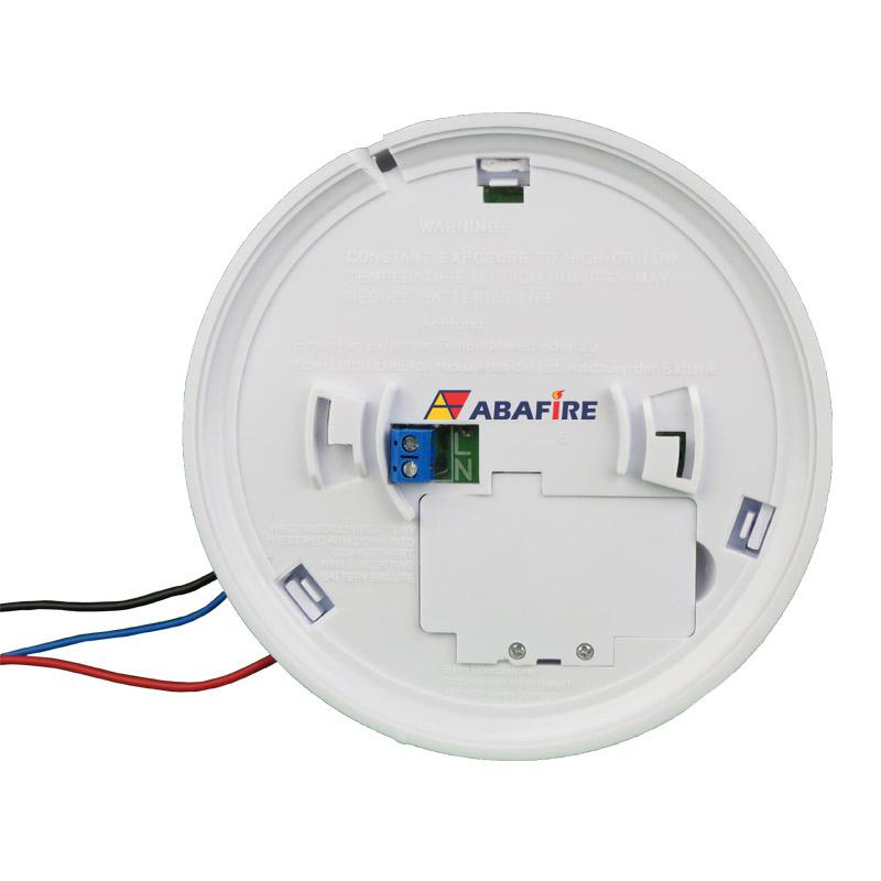 Detector pontual de fumaça autônomo com saída relé NA/NF (Stand alone smoke detector with relay NO/NC) código AFDFAR - Imagem 01