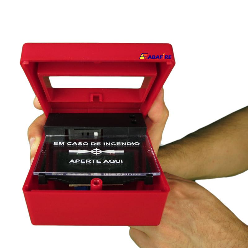 Botoeira e Acionador Manual Convencional (Convencional Call Point) código AFAM2. Ideal para Central de Alarme de Incêndio. Imagem 10