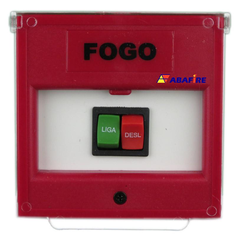 Acionador Manual e Botoeira de Comando Para Acionamento de Bomba de Incêndio Com Dois Botões Tipo Pulso Liga e Desliga código AFBLD2 - Imagem 01