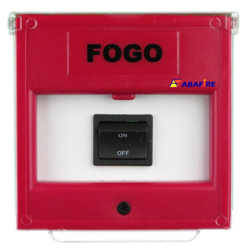 Acionador Manual e Botoeira de Comando Para Acionamento de Bomba de Incêndio Com Um Botão de Retenção Liga/Desliga código AFBLD1 - Imagem 01