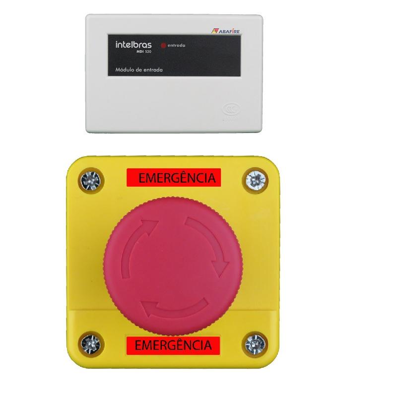 Acionador Manual e Botoeira de Emergência Para Sanitário de Portadores de Necessidades Especiais (PNE) com Módulo Endereçável, código AFAMPNE-E - Imagem 01