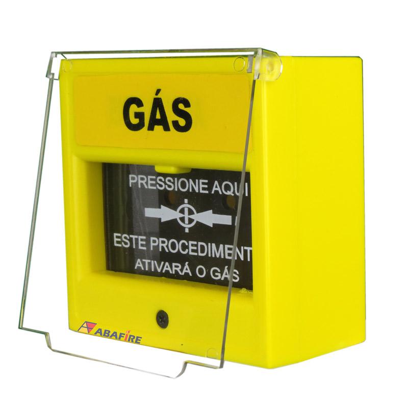 Acionador Manual e Botoeira de Comando Para Emergência e Acionamento de Gás, na cor Amarela com relé NA/NF código AFAM5 - Imagem 02