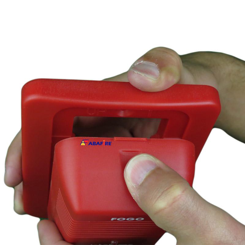 Sirene Audiovisual de Alarme de Incêndio Endereçável em Centrais CIE da Intelbras com Flashes de LED e 2 Tipos de Toques, código SAV520E - Imagem 06