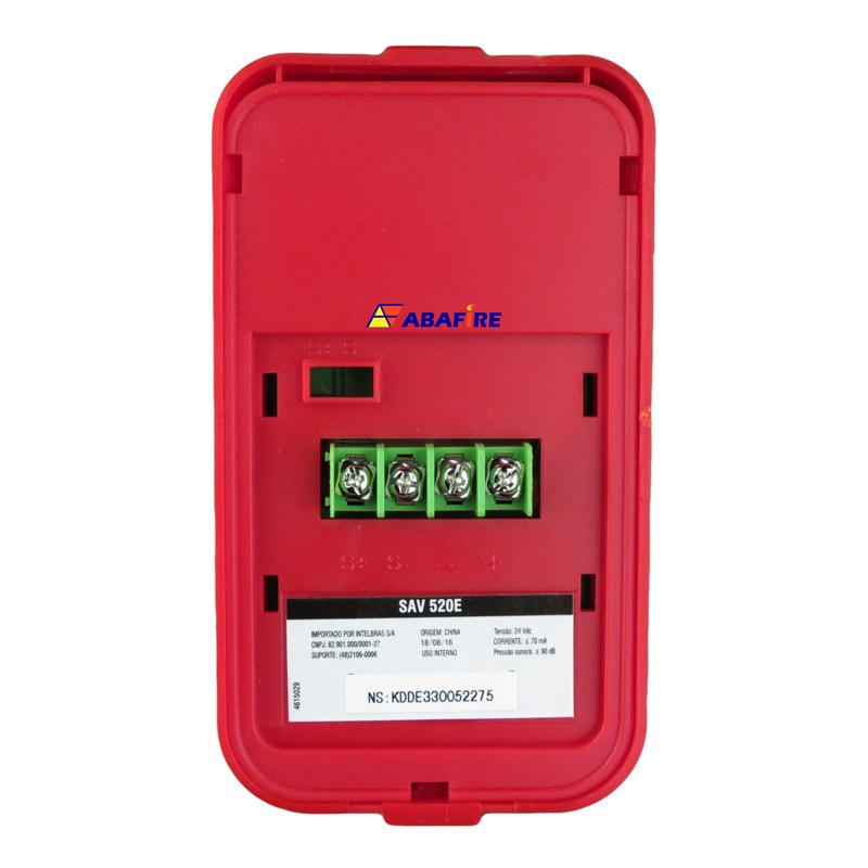 Sirene Audiovisual de Alarme de Incêndio Endereçável em Centrais CIE da Intelbras com Flashes de LED e 2 Tipos de Toques, código SAV520E - Imagem 09