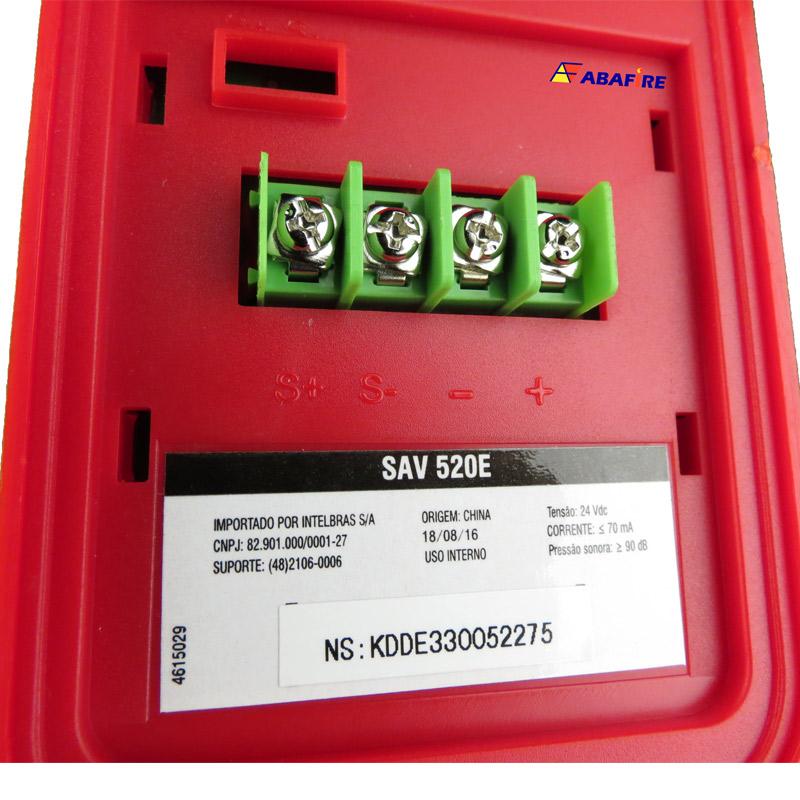 Sirene Audiovisual de Alarme de Incêndio Endereçável em Centrais CIE da Intelbras com Flashes de LED e 2 Tipos de Toques, código SAV520E - Imagem 10