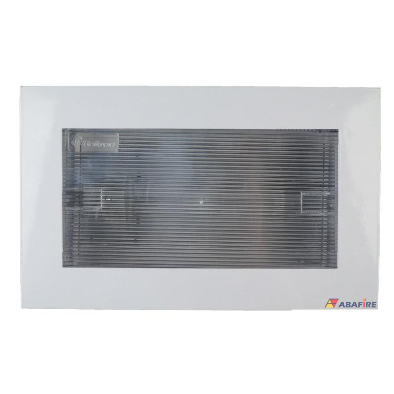 Luz de Emergência Autônoma de Embutir em Drywall e Gesso - Com Uma Lâmpada Fluorescente de 9W Código AFMAC512E