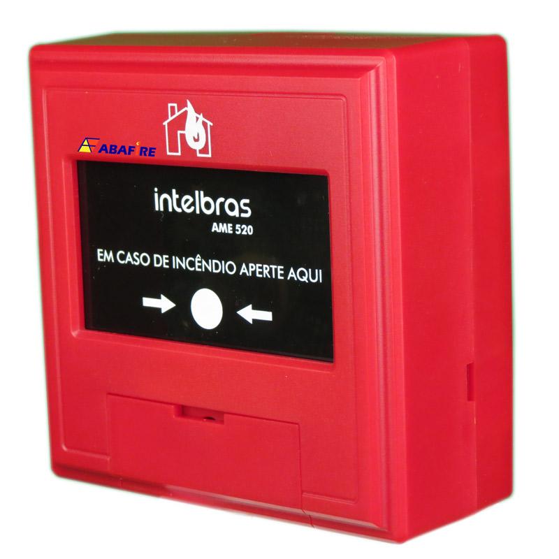 Botoeira e Acionador Manual de Alarme de Incêndio Endereçável (Addressable Manual Call Point) Tipo Resetável. Código AME520. Imagem 02