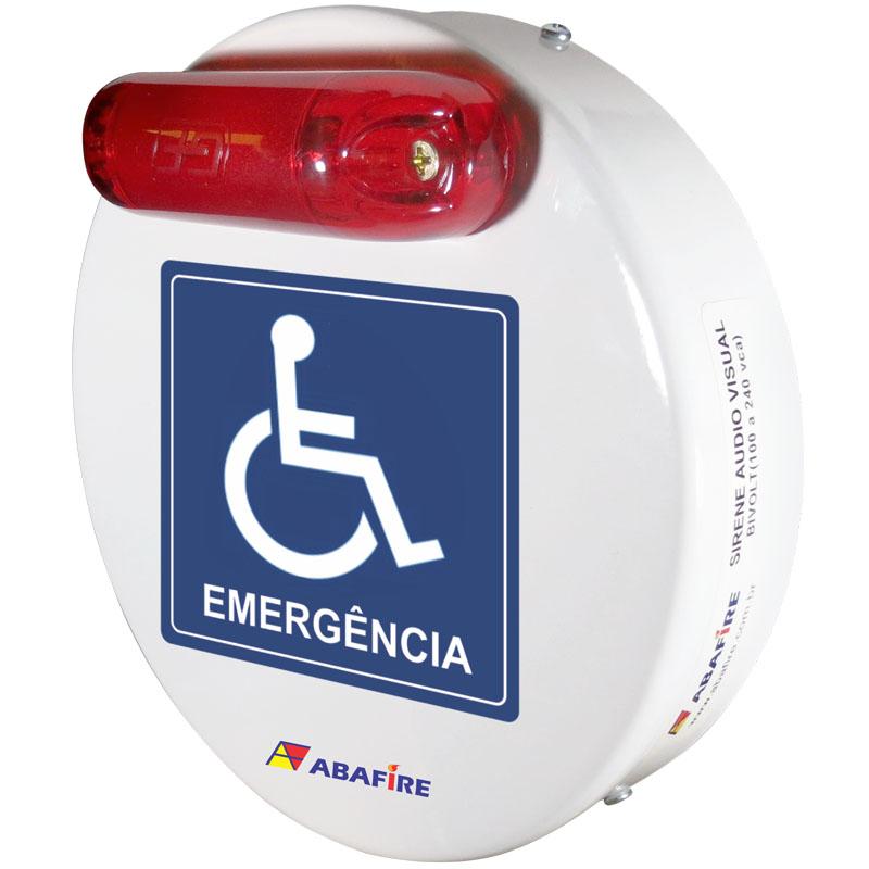 Campainha Sonora e Luminosa (Audiovisual) Wireless Para Banheiros e Sanitarios de Pessoas Com Deficiencia (PCD) Código AFSAVW - Imagem 02