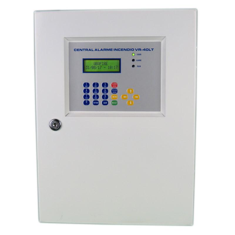 Central de Alarme de Incêndio Convencional de 40 Laços e Visor de LCD, código AFVR40LTS - Imagem 01