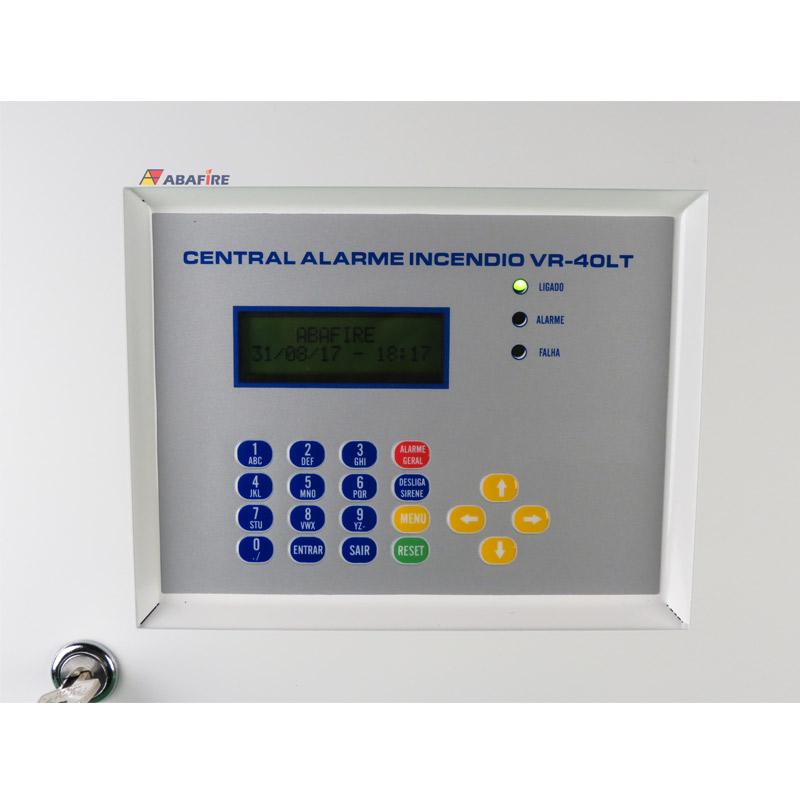 Central de Alarme de Incêndio Convencional de 40 Laços e Visor de LCD, código AFVR40LTS - Imagem 08