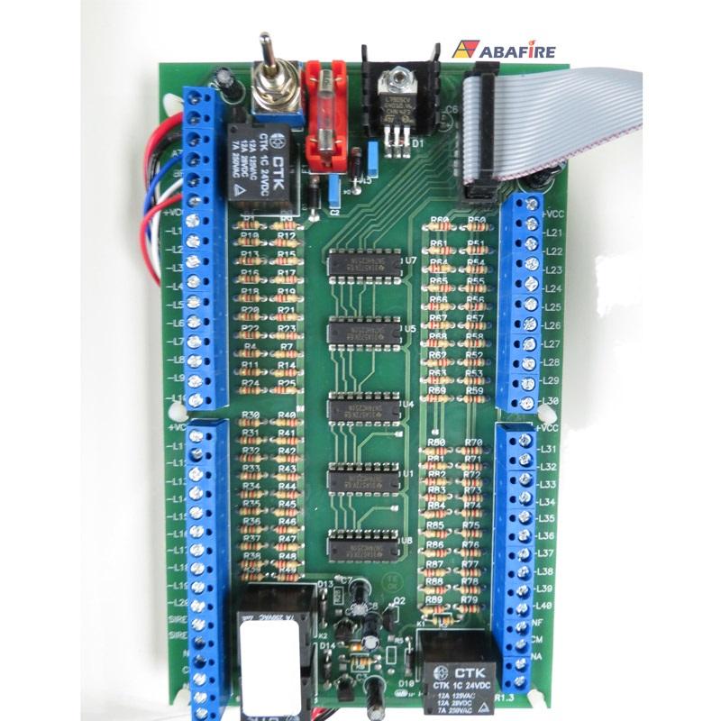 Central de Alarme de Incêndio Convencional de 40 Laços e Visor de LCD, código AFVR40LTS - Imagem 16