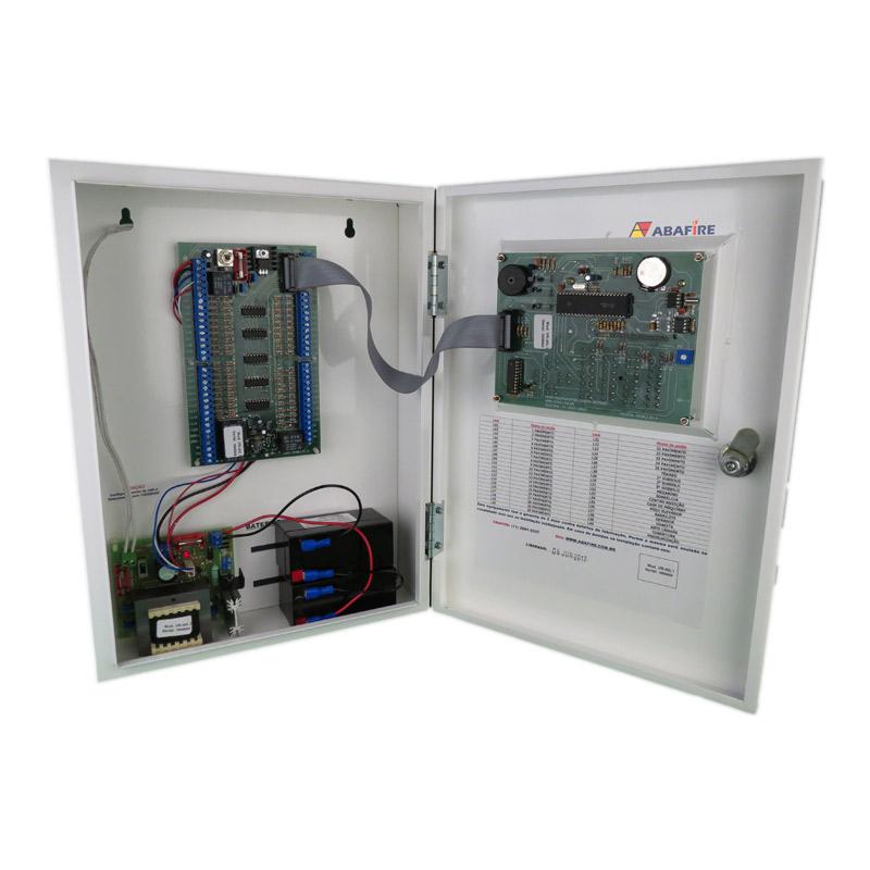 Central de Alarme de Incêndio Convencional de 40 Laços e Visor de LCD, código AFVR40LTS - Imagem 11