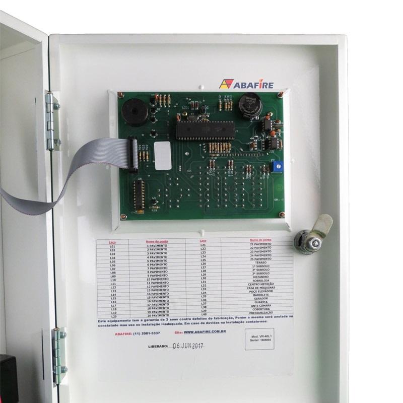 Central de Alarme de Incêndio Convencional de 40 Laços e Visor de LCD, código AFVR40LTS - Imagem 12