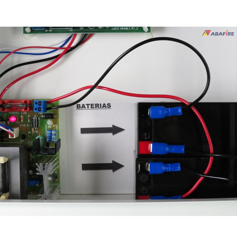 Central de Alarme de Incêndio Convencional de 40 Laços e Visor de LCD, código AFVR40LTS - Imagem 13