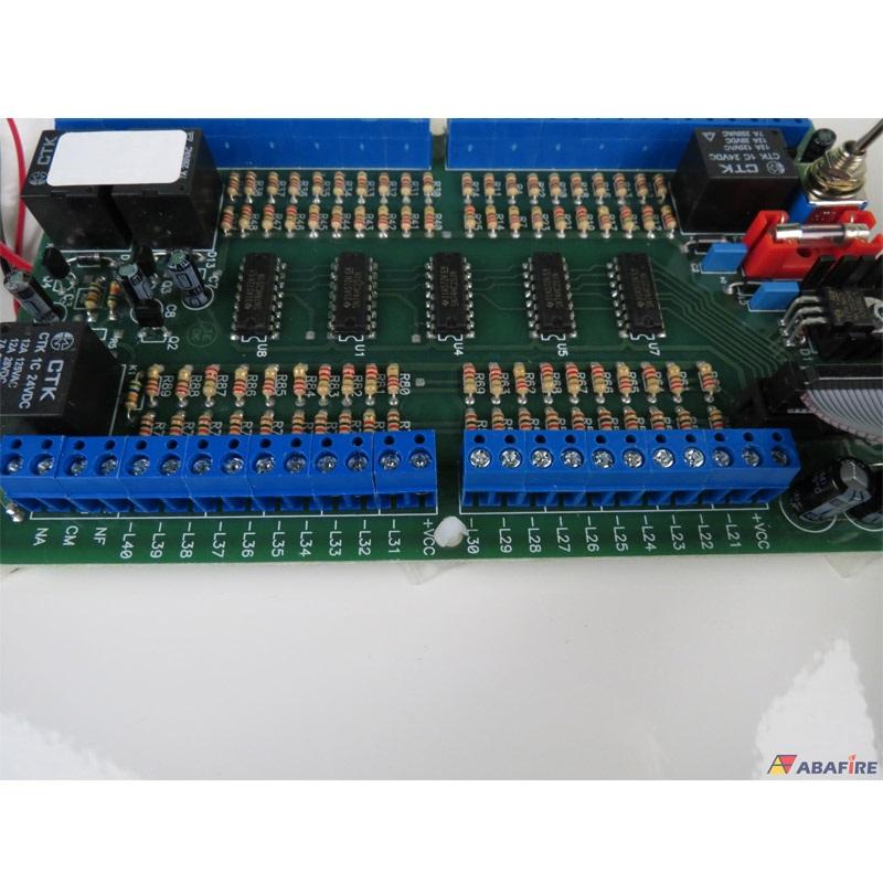 Central de Alarme de Incêndio Convencional de 40 Laços e Visor de LCD, código AFVR40LTS - Imagem 15
