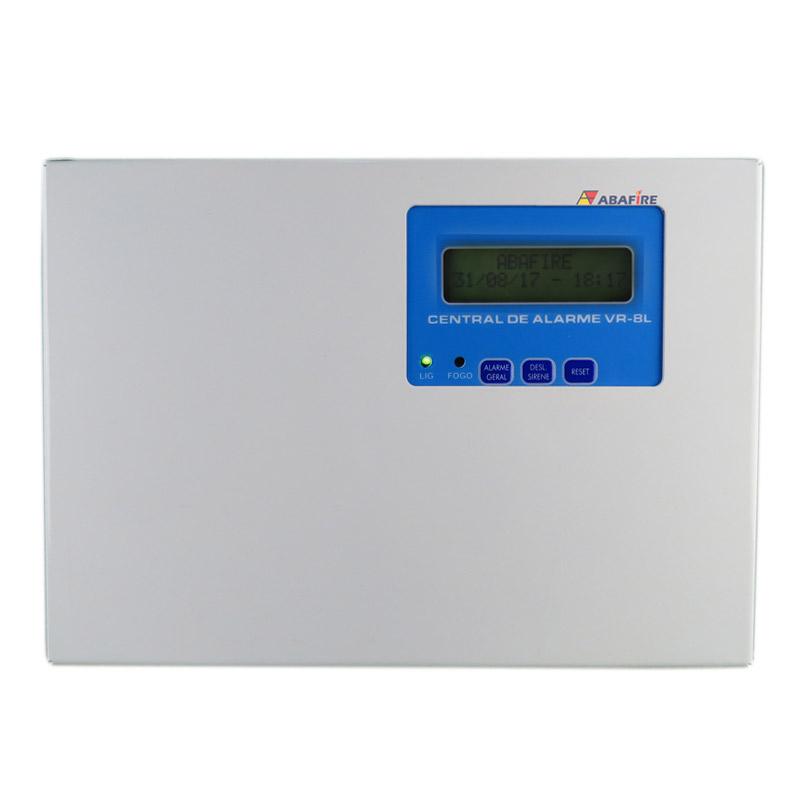 Central de Alarme de Incêndio Convencional de 08 Laços e Visor de LCD, código AFVR8LS - Imagem 01