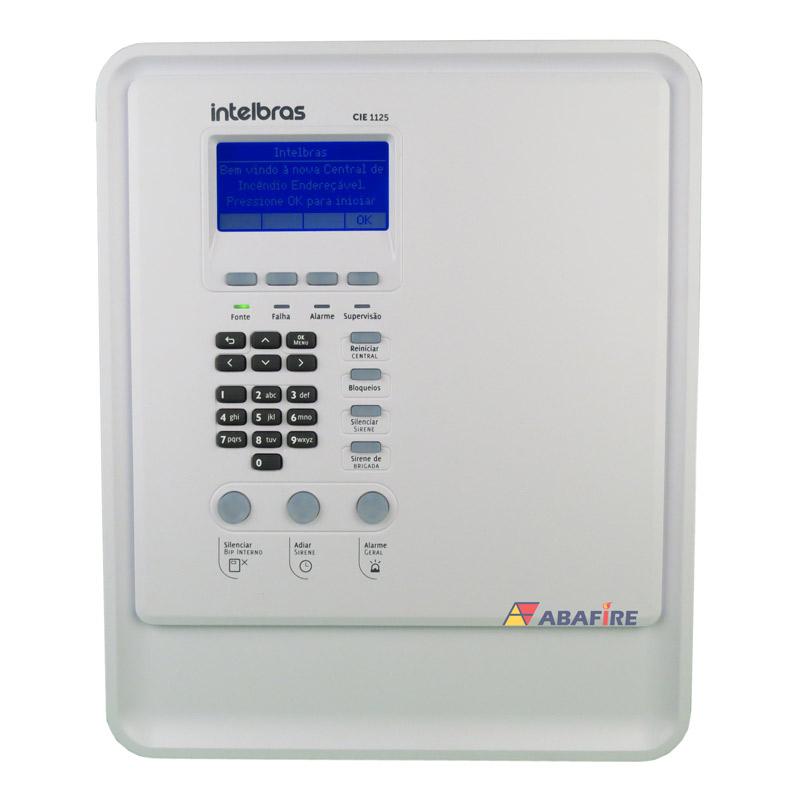 Central de Alarme de Incêndio Intelbrás Tipo Endereçável Com 01 Laço e 125 Endereços código CIE1125 - Imagem 01