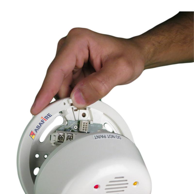 Detector Pontual de Chama Ultravioleta (UV Flame Detector) com módulo endereçável e saída relé NA/NF, código FS2000E - Imagem 01