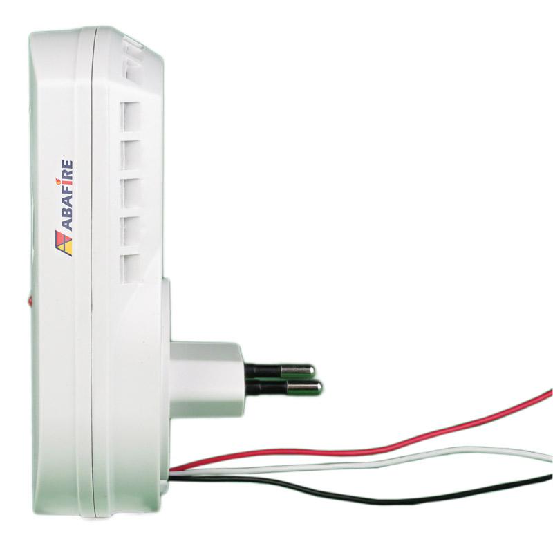 Detector pontual de vazamento de gás GLP e Gás Natural com módulo endereçável e saída relé NA/NF, código AFDG2E - Imagem 02