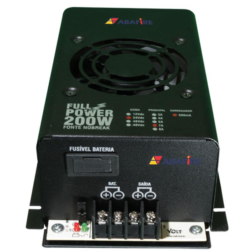 Fonte de Energia nobreak Ininterrupta Tensão 24 Volts e Corrente de 7 Amperes, código: AFFONTE24-7 - Imagem 01