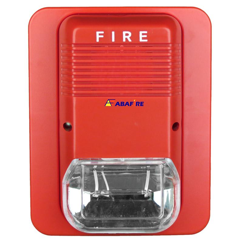 Sinalizador / Alerta Visual de Alarme de Incêndio em 24V com Flashes de Luz Xenon de Alto Brilho Tipo Estrobo código AFSXV - Imagem 01