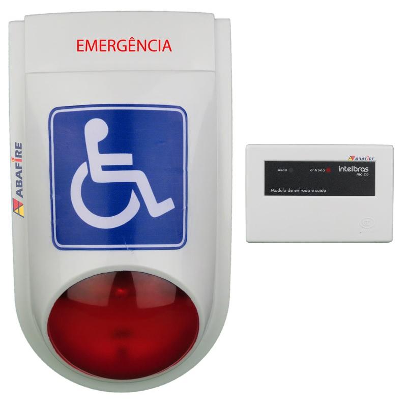 Sirene Audiovisual de Emergência Para Sanitário PNE (Portador de Necessidades Especiais) – Com Módulo Endereçável Código AFSAVPNE-E