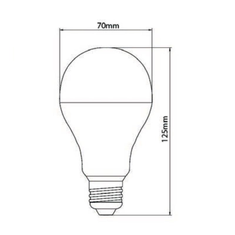 Lâmpada de LED tipo Bulbo em 24 Volts e 5 Watts com 720 Lumens, código AFLED24V5W, Para Centrais de Iluminação de Emergência - Imagem 03