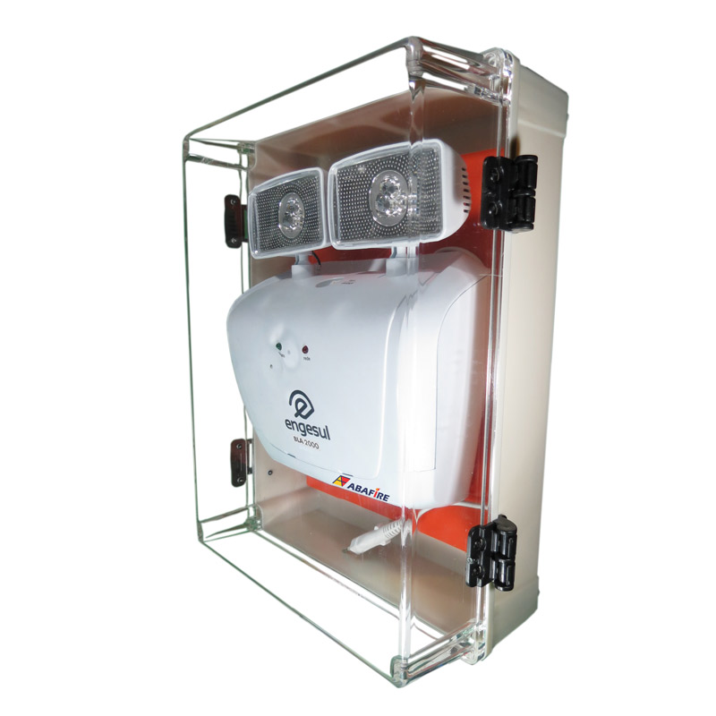 Luminária de Emergência (Bloco Autônomo) Para Área Externa à Prova de Água (IP65) com Dois Faróis de LED e 2000 Lumens, código AF2000LMPT